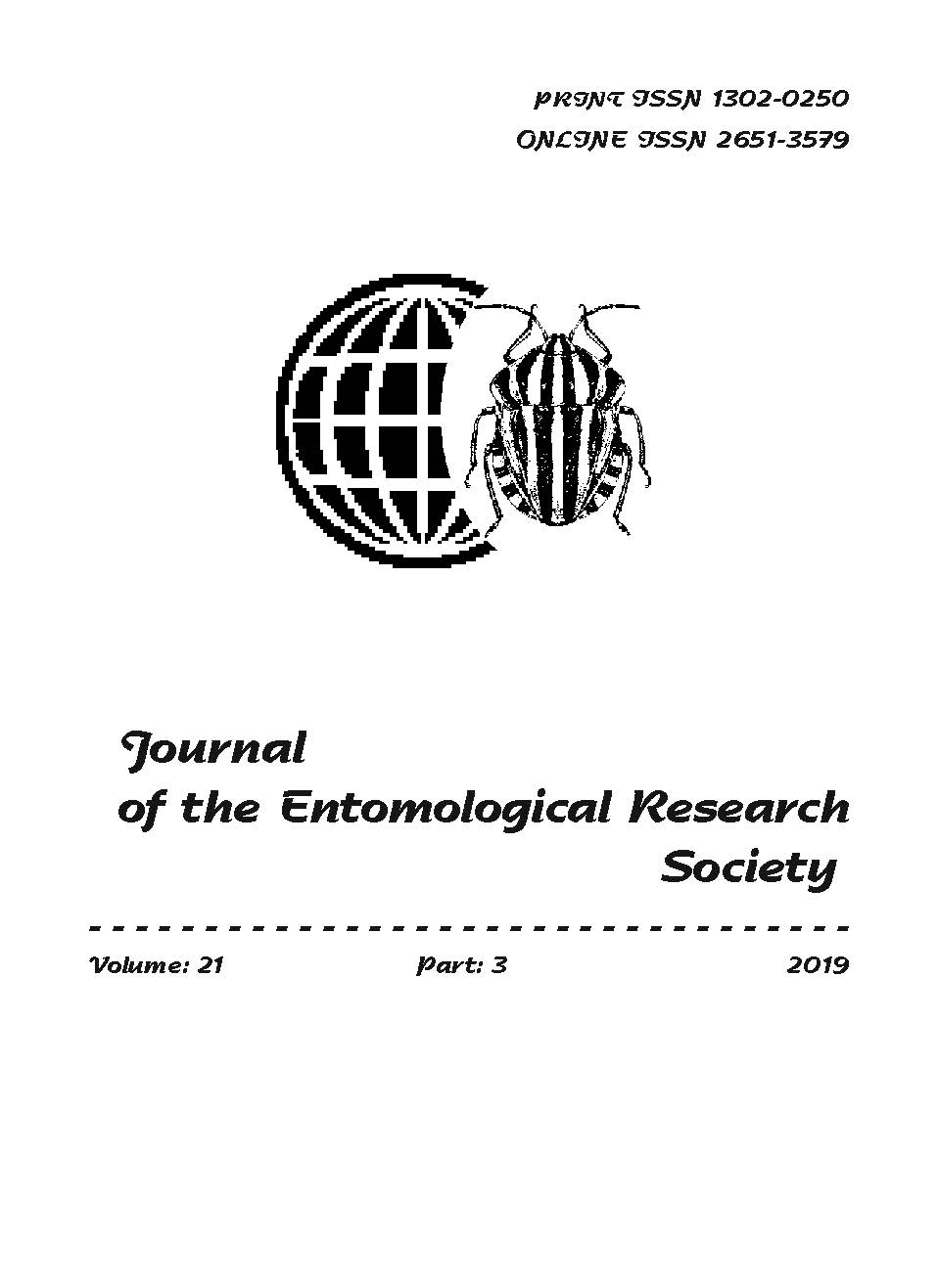 View Vol. 21 No. 3 (2019): Journal of the Entomological Research Society