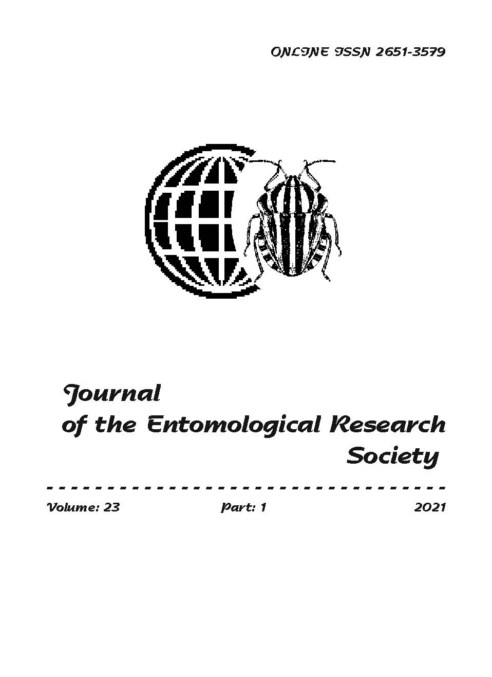 View Vol. 23 No. 1 (2021): Journal of the Entomological Research Society